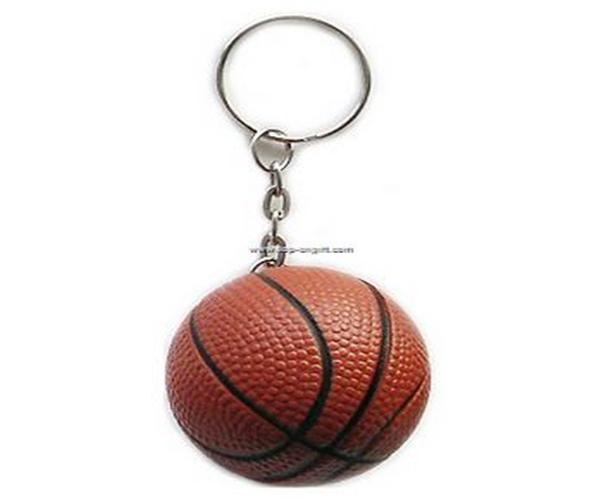 PU Stress Basketball keychain