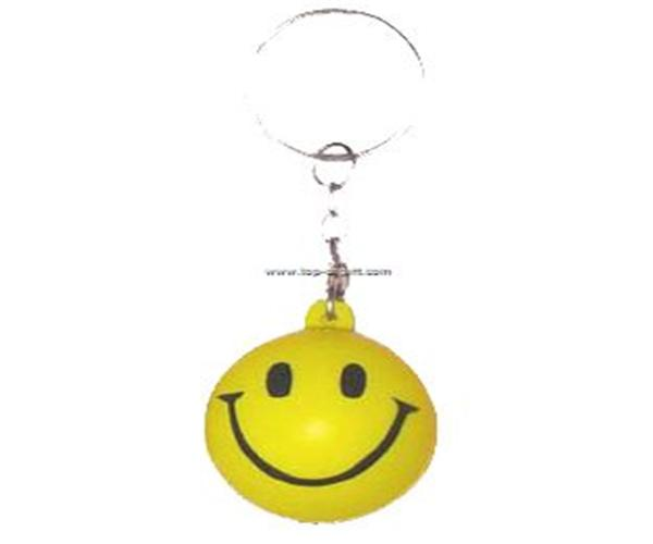 Smile ball keychain