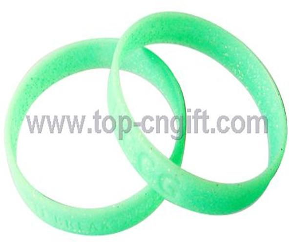 Fuorescent Silicone Wristband with recessed lette