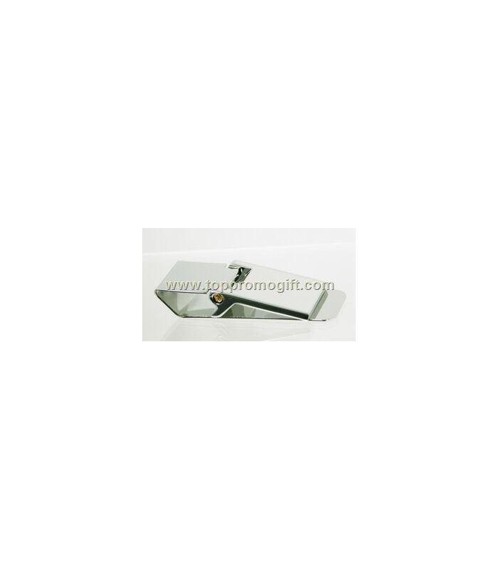Money Clip / Rectangular With Hinge Top / Silver