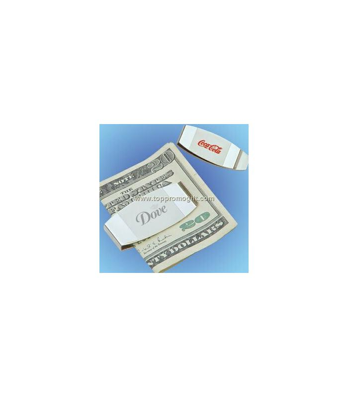 Silver Plated Money Clip (Screened)