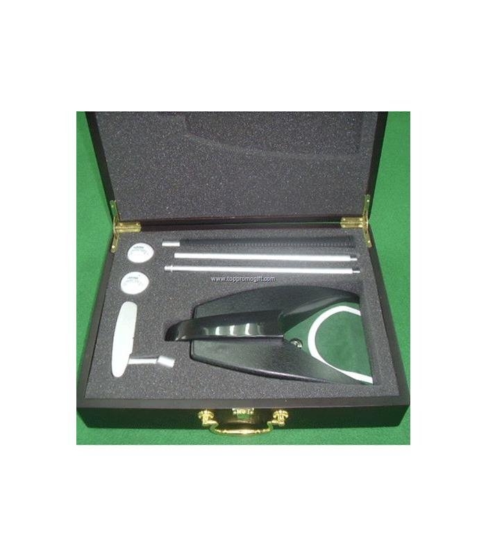 WOOD BOX WITH AUTO-RETURNER AND ALUMINIUM PUTTER