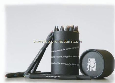 Black Pencils in the cylinder