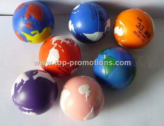 PU Globe Stress ball