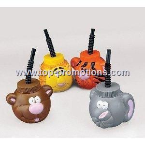 Plastic Zoo Jungle Animal Sipper Cups