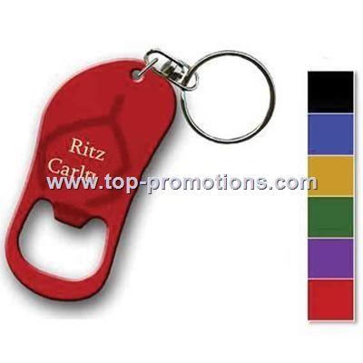 Key ring with sandal shape