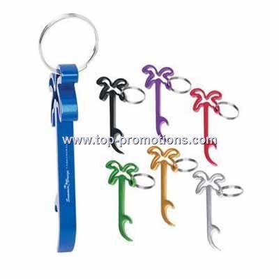 Palm Tree Bottle Opener Key Chain