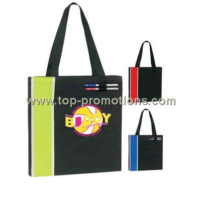 Large capacity tote bag with double pen