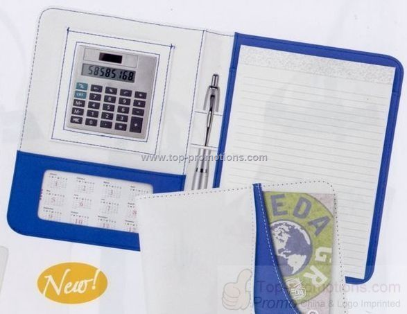 Junior portfolio calculator with note pad and pen