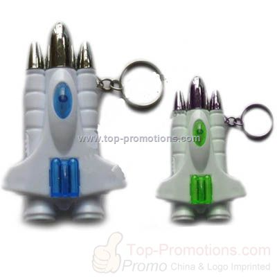 Fighter Shaped LED Light Keychain