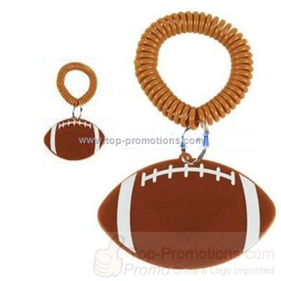 Personalized Football Bracelet Key Chains