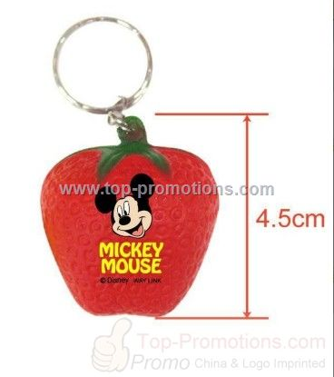Strawberry Stress Ball Keychain