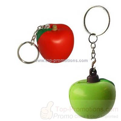 PU Apple Stress Ball With Key Ring