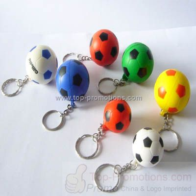 Soccer stressball key ring