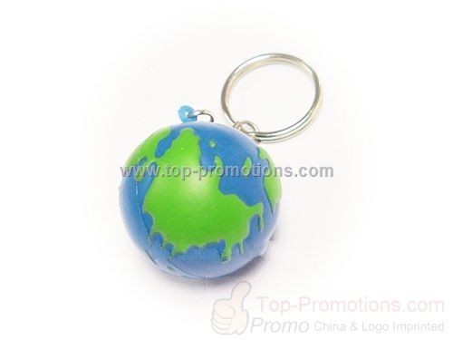 Global stress ball keychain