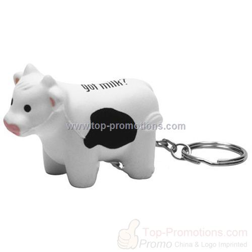 Milk Cow Stress Ball With Key Ring / KeyChain