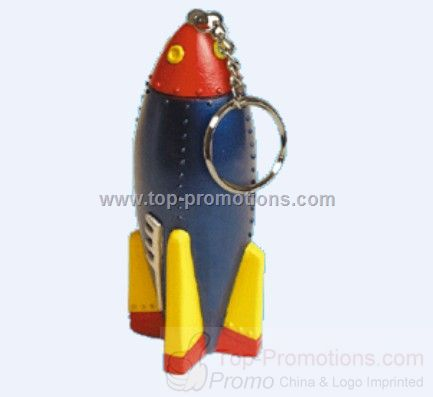 Rocket Ship Stress Ball Keyring