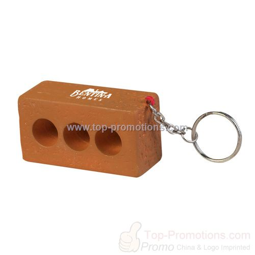 Brick Keychain Stress Ball