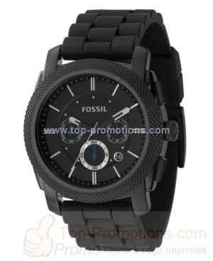 Men s Black Silicone Strap