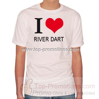 T-shirts I Love River dart T-Shirt