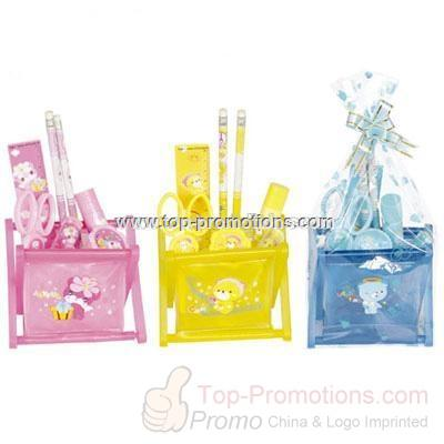 PVC Pen holder Stationery Set