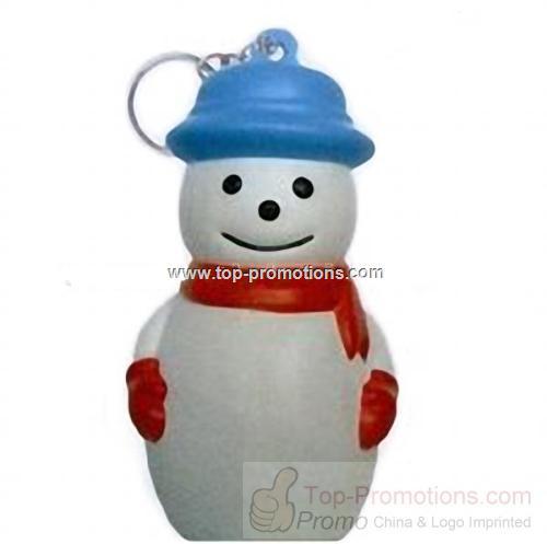 Snowman Keychain Stress Reliever Balls