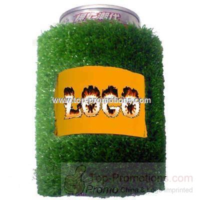Artificial grass turf can cooler holder