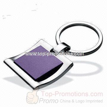 Promotional Polished Metal Keychain