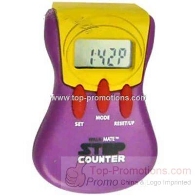 Multi function pedometer with belt clip and LED sc