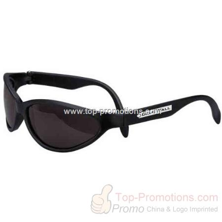 Black Sport Sunglasses With Uv Protection
