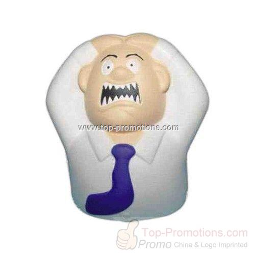 Angry Man Shaped Stress Reliever Ball