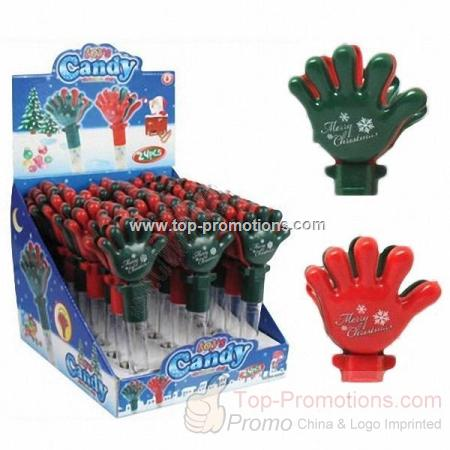Halloween and Christmas Hand Clapper Candy Storage