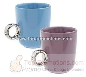 Set of 2 Girl is s Best Friend Diamond Ring Ceramic M
