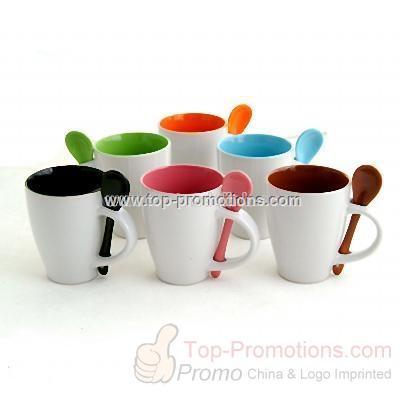 Ceramic Mug with Scoop