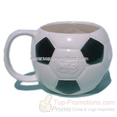 Hand Crafted Ceramic Mug Soccer Football shape