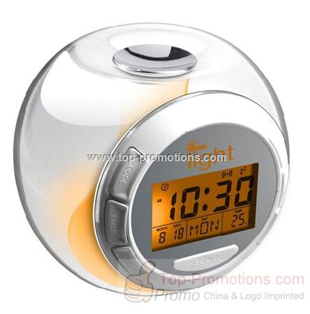 Nature Sound Talking Clock with 7-color light