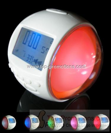 7 Color Light with LCD Clock Radio and 6 Nature So