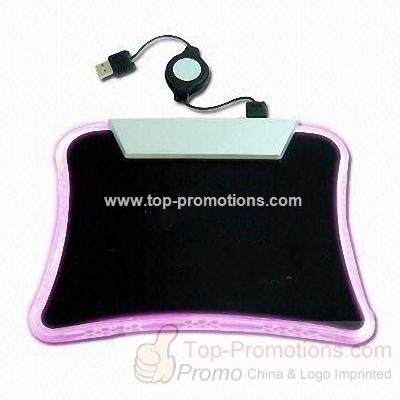 3-port USB HUB with Mouse Pad and Extension Cable