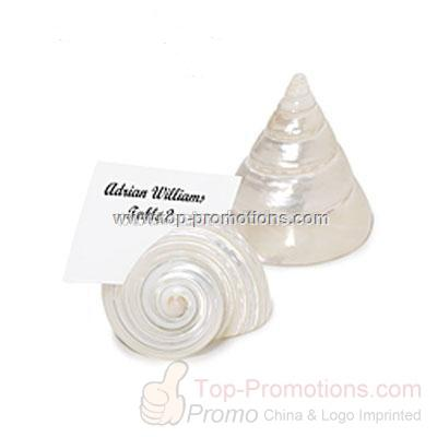 Pearlized Shell Place Card Holders
