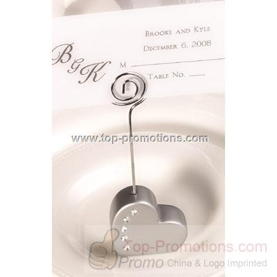 Heart Place Card Holders - Silver