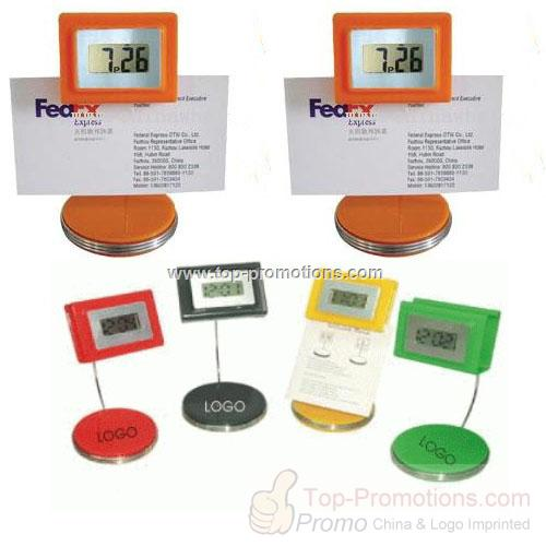 Digital LCD Clock with Memo Holder