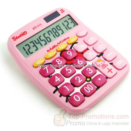 Foreign end of a single hello kitty cartoon calcul