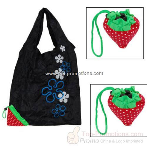 Strawberry Black Magic Foldable Shopping Shoulder