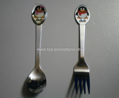 Doming spoon forks