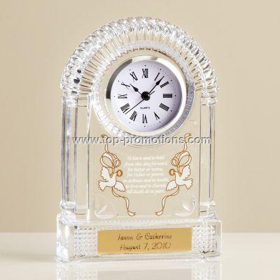 Crystal Wedding Clock