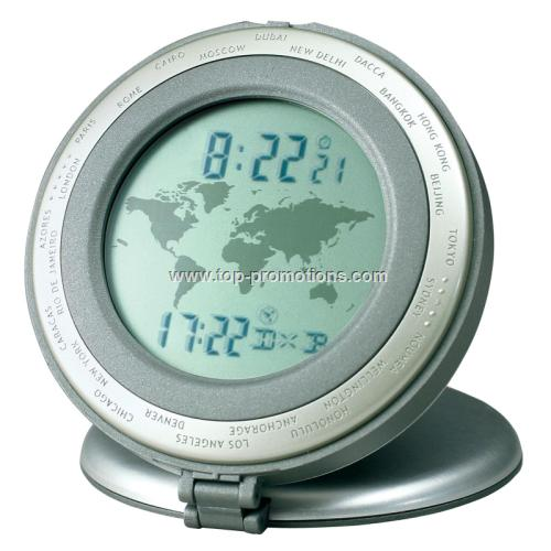 Howard Miller World Travel Alarm Clock
