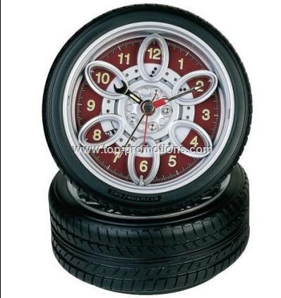 Name Card Holder Tire Clock, Tyre Desk Clock