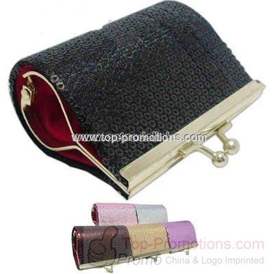 Sequin finish Kisslock wallet