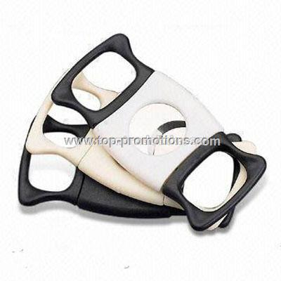 Plastic Cigar Cutter with Stainless Steel Blade