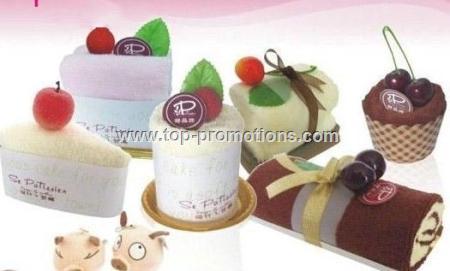 Cake Dessert Hand Towels